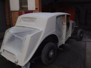 White Rolls Royce body