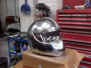 Silver Racing Helmet