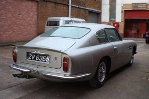 Aston Martin DB6 Silver Rear