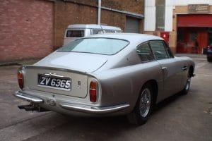 Aston Martin DB6 Silver Rear