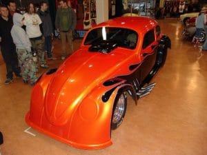 Orange Flame V8 Beetle