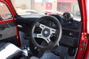 Candy Apple Red Beetle Interior