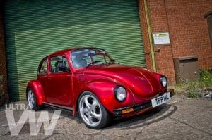 Candy Apple Red Beetle Side Angle