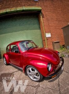 Candy Apple Red Beetle Side View