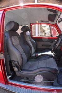 Candy Apple Red Beetle Front Seats