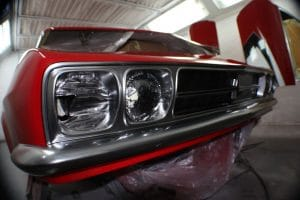 Red Victor headlights