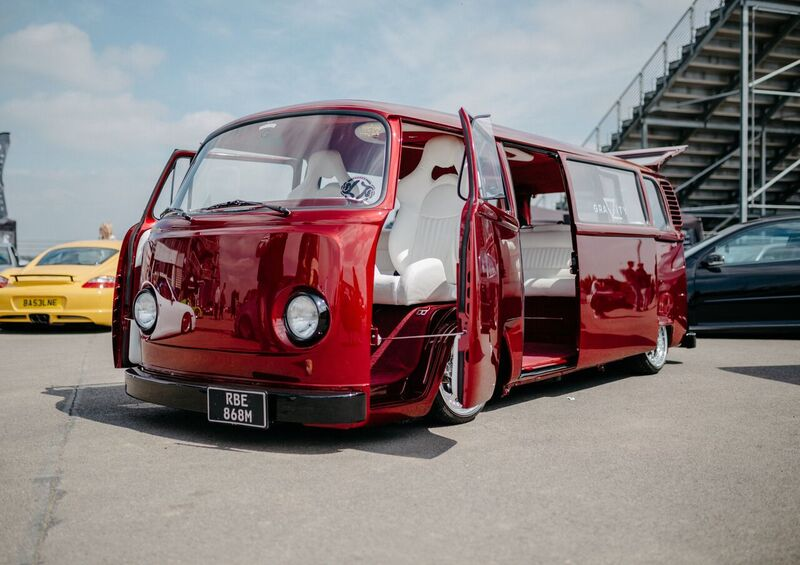 VW Red Camper Modified